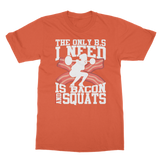 Bacon And Squats Female Classic Adult T-Shirt