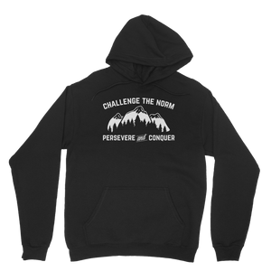 Challenge The Norm White Logo Classic Adult Hoodie