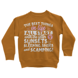 All The Best Things in Life Start With The Letter S - Camping T-Shirt Classic Kids Sweatshirt