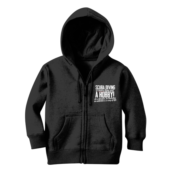 Scuba Driving is More Than Just a Hobby Classic Kids Zip Hoodie