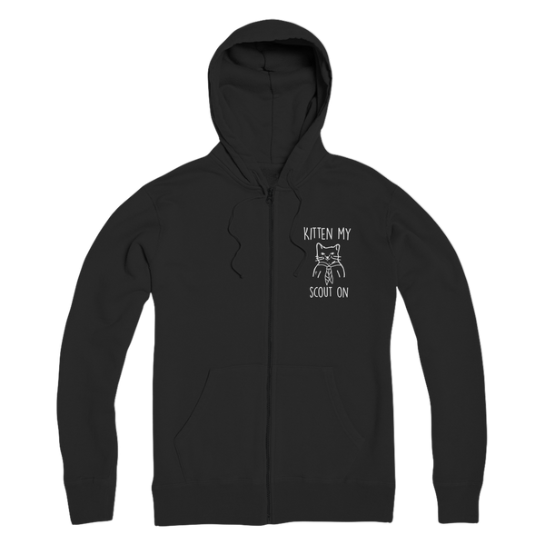 Kitten My Scout On Premium Adult Zip Hoodie