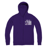 Lets Go Cycling And Not Come Back For A While! Premium Adult Zip Hoodie