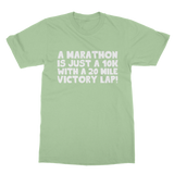 Marathon 10K With A 20 Mile Victory Lap Classic Adult Polo Shirt
