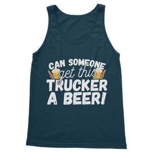 Can Someone Get Trucker a Beer! Classic Women's Tank Top