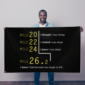 Marathon Runner Too Tough To Kill Sublimation Flag