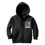 You Either Love Cycling Or You're An Idiot! Classic Kids Zip Hoodie