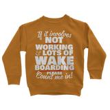 Wake Boarding Classic Kids Sweatshirt