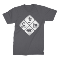 Eat, Sleep, Football, Repeat Premium Jersey Men's T-Shirt