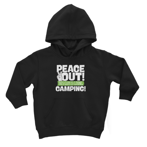 Peace Out This Guy is Going Camping! Classic Kids Hoodie