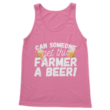 Can Someone Get This Farmer a Beer! Classic Women's Tank Top