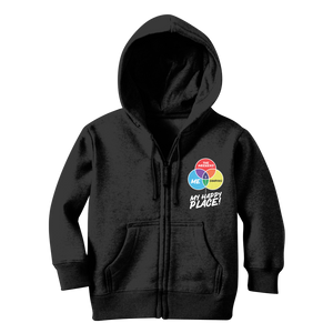 Camping is My Happy Place Classic Kids Zip Hoodie