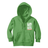 If I Look Busy Don't Disturb Me Unless You Plan To Take Me Pizza Seriously. Only Pizza Classic Kids Zip Hoodie
