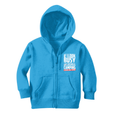 If I Look Busy Don't Disturb Me Unless You Plan To Take Me Camping Seriously. Only Camping Classic Kids Zip Hoodie