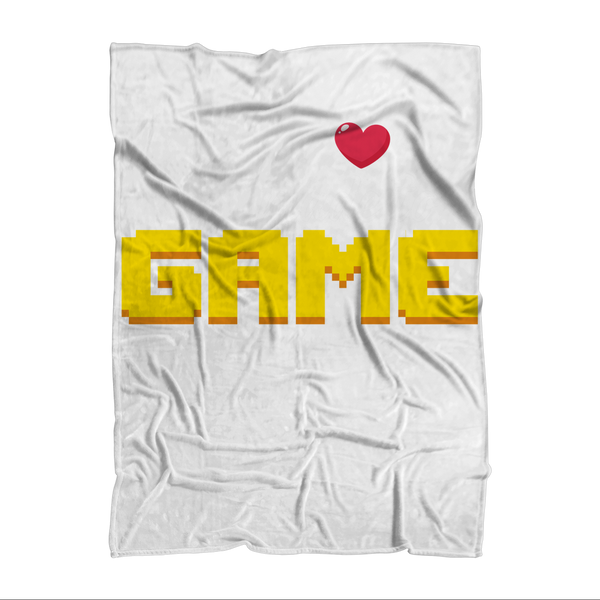 My Heart Was Made To Game Sublimation Adult Blanket