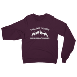 Challenge The Norm White Logo Classic Adult Sweatshirt