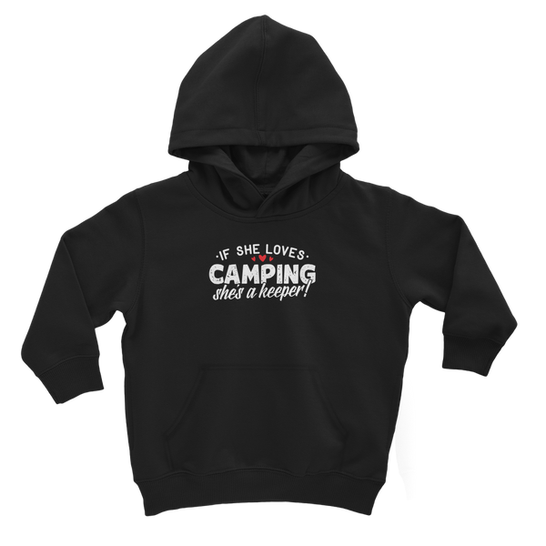 If She Loves Camping She's a Keeper! Classic Kids Hoodie