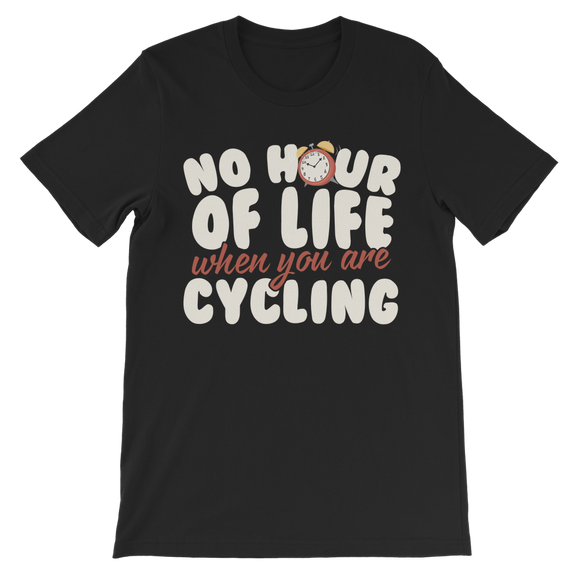 No Hour of Life is Wasted With A Cycling Premium Kids T-Shirt