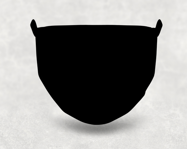 Black Sublimation Face Mask
