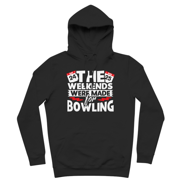 The Weekend Were Made For Bowling Premium Adult Hoodie