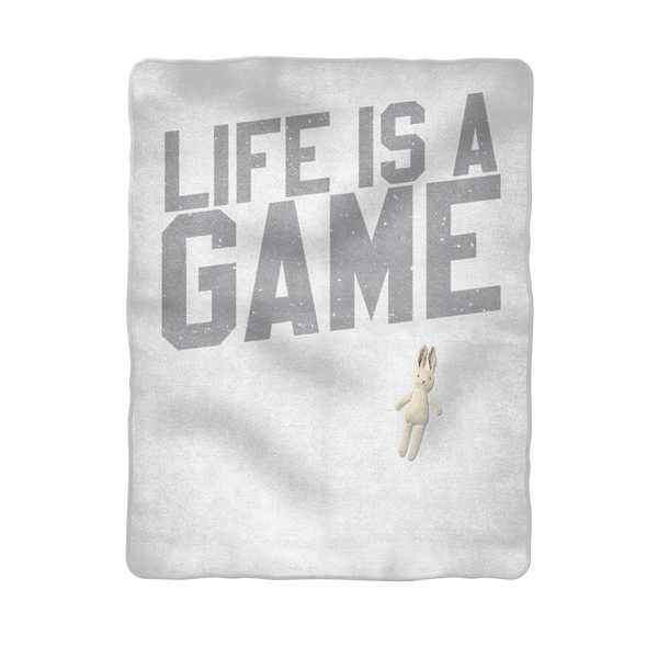Life is a Game Rugby is Serious Sublimation Baby Blanket