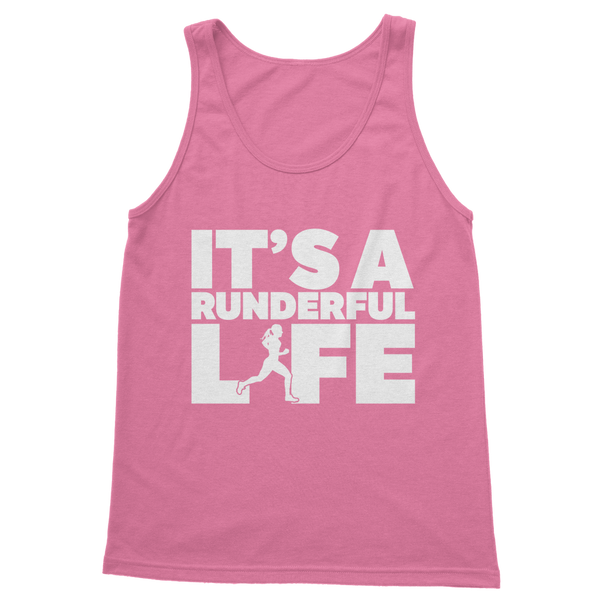 It's A Runderful Life Female Runner Classic Women's Tank Top