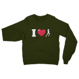 I Love Running Female Runner Classic Adult Sweatshirt