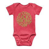 Work Sucks Hiking Don't Classic Baby Onesie Bodysuit