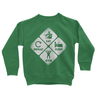 Eat, Sleep, Gym, Repeat Classic Kids Sweatshirt