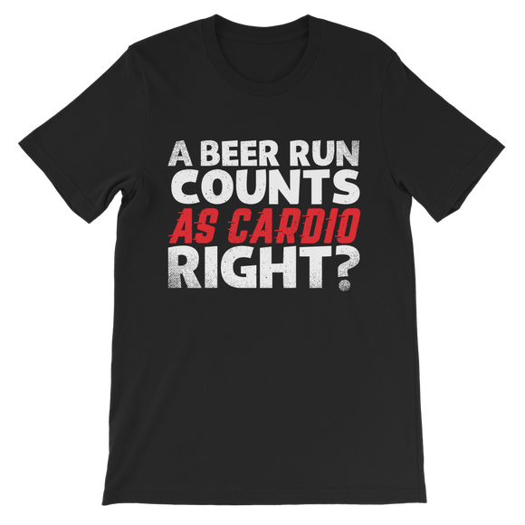 A Beer Run Counts As Cardio Right? Premium Kids T-Shirt