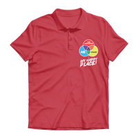 Cycling is My Happy Place Premium Adult Polo Shirt