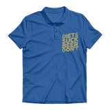 Diets Suck Beer Don't Premium Adult Polo Shirt