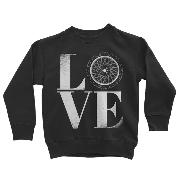 Love Biker Classic Kids Sweatshirt