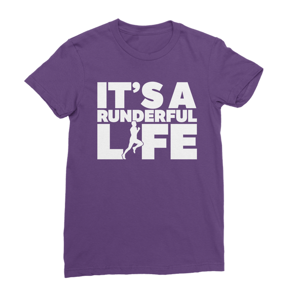 It's A Runderful Life Male Runner Classic Women's T-Shirt