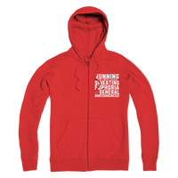 Running Side Effects Include Sweating, Euphoria and General Awesomeness Premium Adult Zip Hoodie