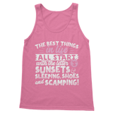 All The Best Things in Life Start With The Letter S - Camping T-Shirt Classic Women's Tank Top