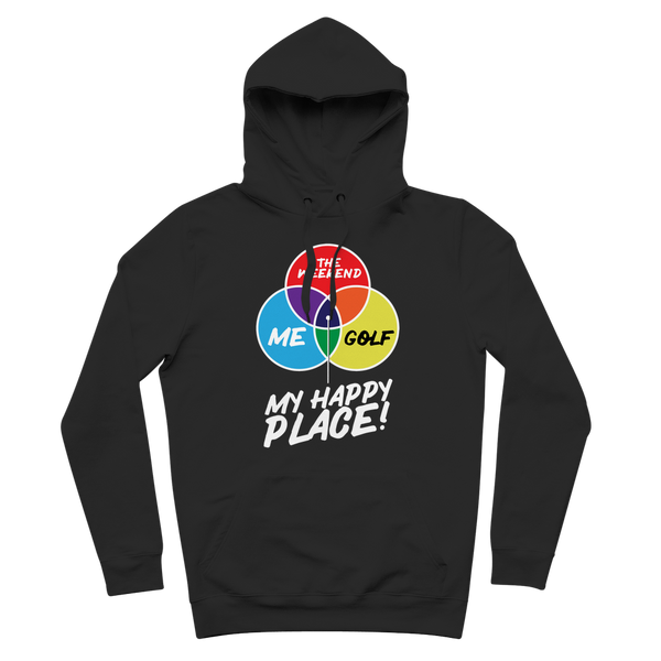 Golf is My Happy Place Premium Adult Hoodie