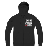 Skiing Side Effects Include Sweating, Euphoria and General Awesomeness Premium Adult Zip Hoodie