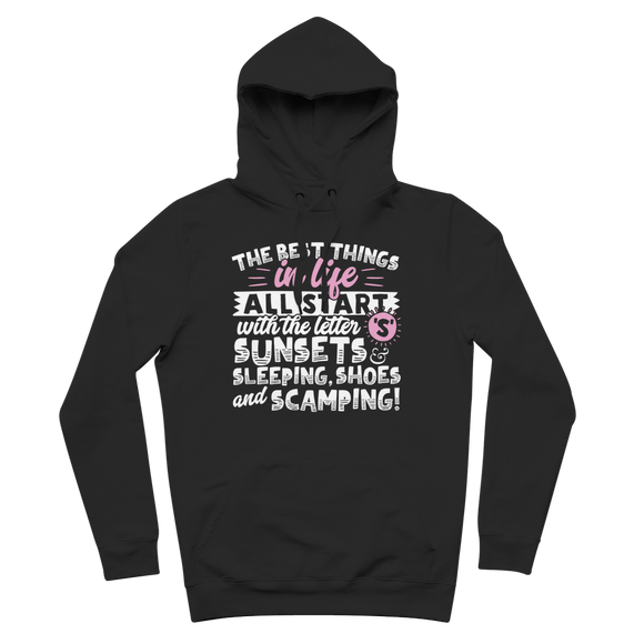 All The Best Things in Life Start With The Letter S - Camping T-Shirt Premium Adult Hoodie
