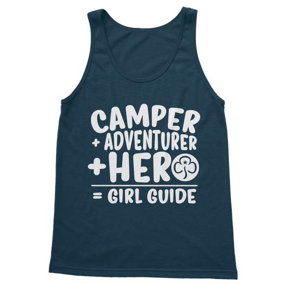 Camper + Adventurer + Hero = Girl Guide Classic Women's Tank Top