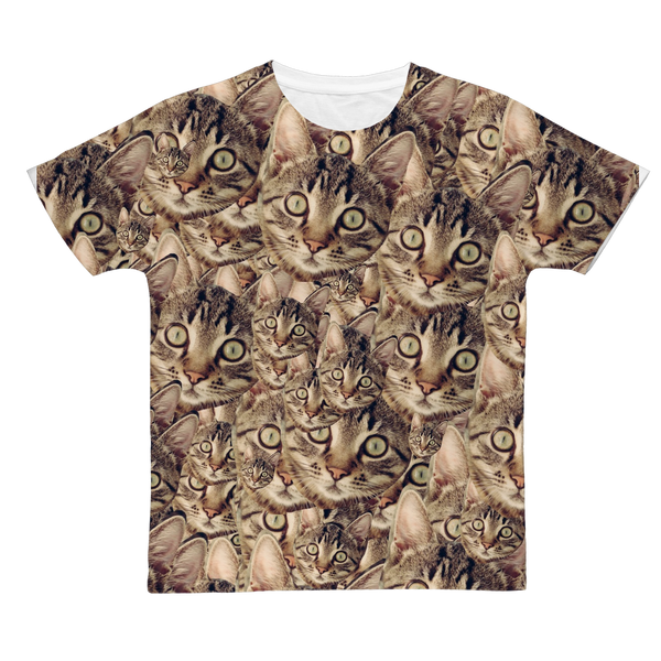 Cat Classic Sublimation Adult T-Shirt