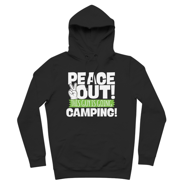 Peace Out This Guy is Going Camping! Premium Adult Hoodie