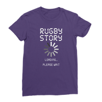 Rugby Story Loading... Please Wait Premium Jersey Women's T-Shirt