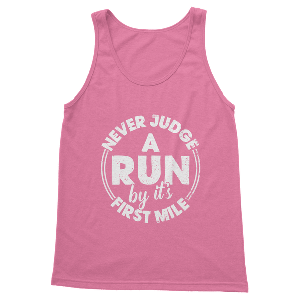Never Judge A Run By It's First Mile Classic Women's Tank Top