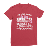All The Best Things in Life Start With The Letter S - Camping T-Shirt Classic Women's T-Shirt