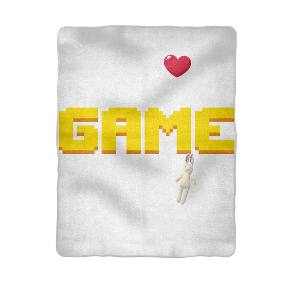My Heart Was Made To Game Sublimation Baby Blanket
