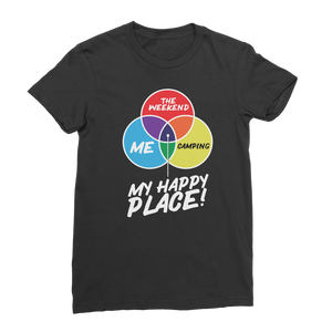 Camping is My Happy Place Premium Jersey Women's T-Shirt