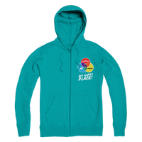 Cycling is My Happy Place Premium Adult Zip Hoodie