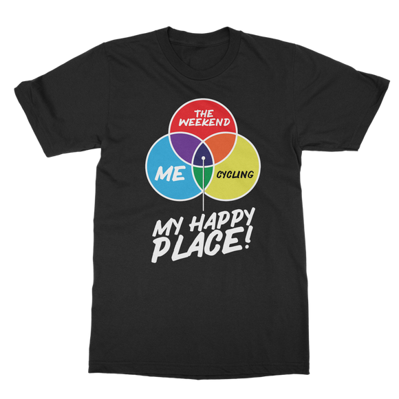 Cycling is My Happy Place Classic Adult T-Shirt