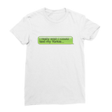 I Really Wish I Could Text my Yorkie Premium Jersey Women's T-Shirt