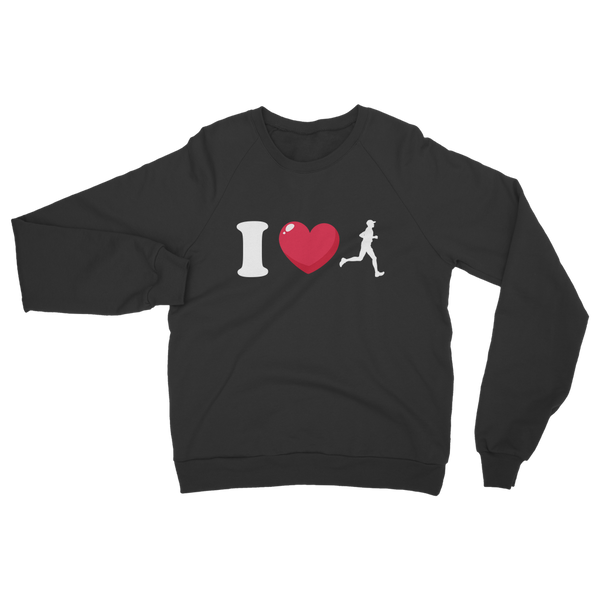 I Love Running Male Runner Classic Adult Sweatshirt
